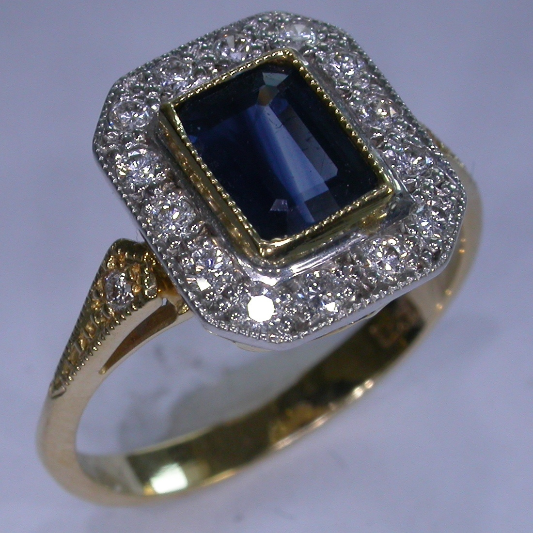 Colour Stone Engagement Rings in Melbourne - #4752