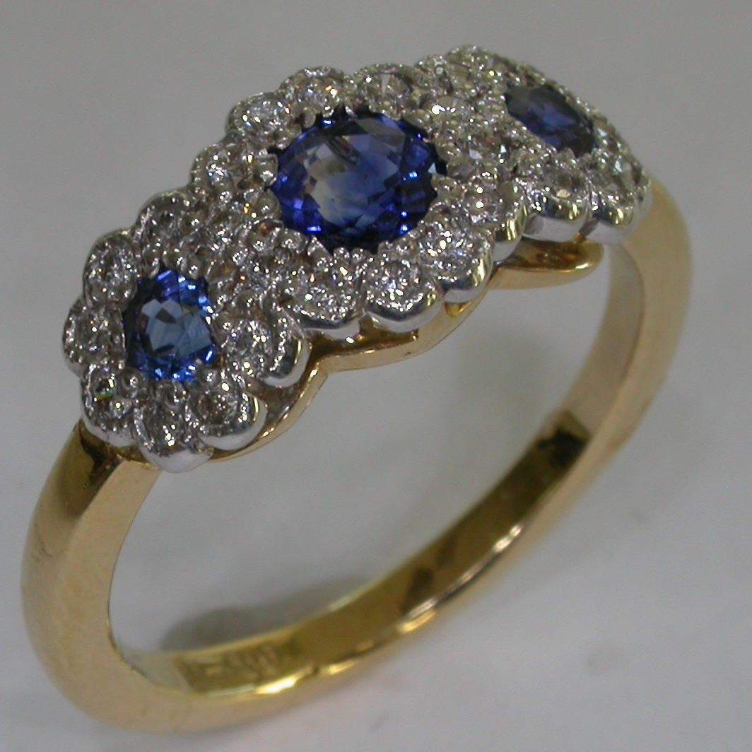 Colour Stone Engagement Rings - #6581