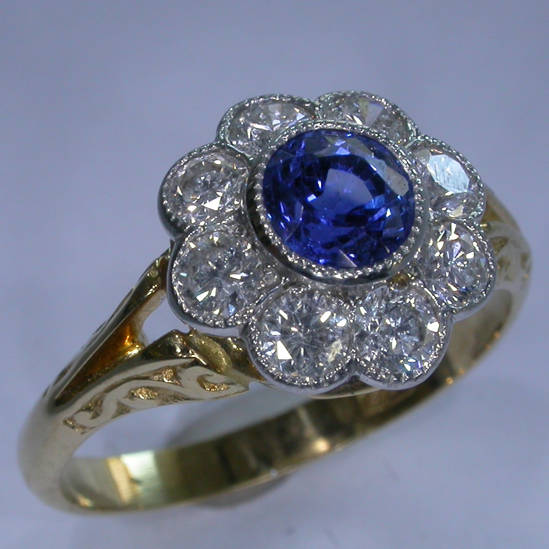 Colour Stone Engagement Rings - #6604