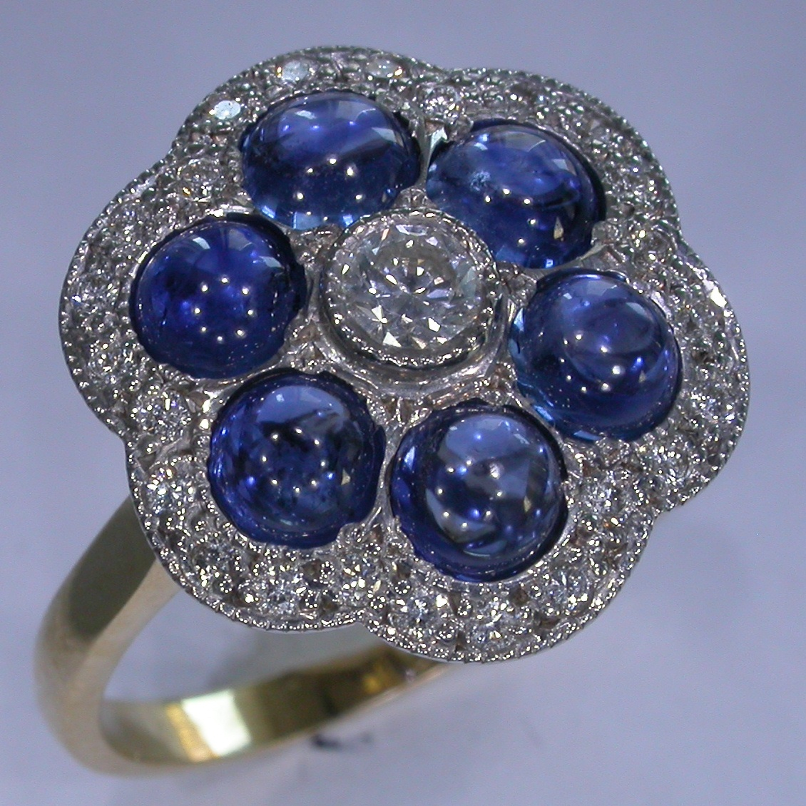Colour Stone Engagement Rings - #6753