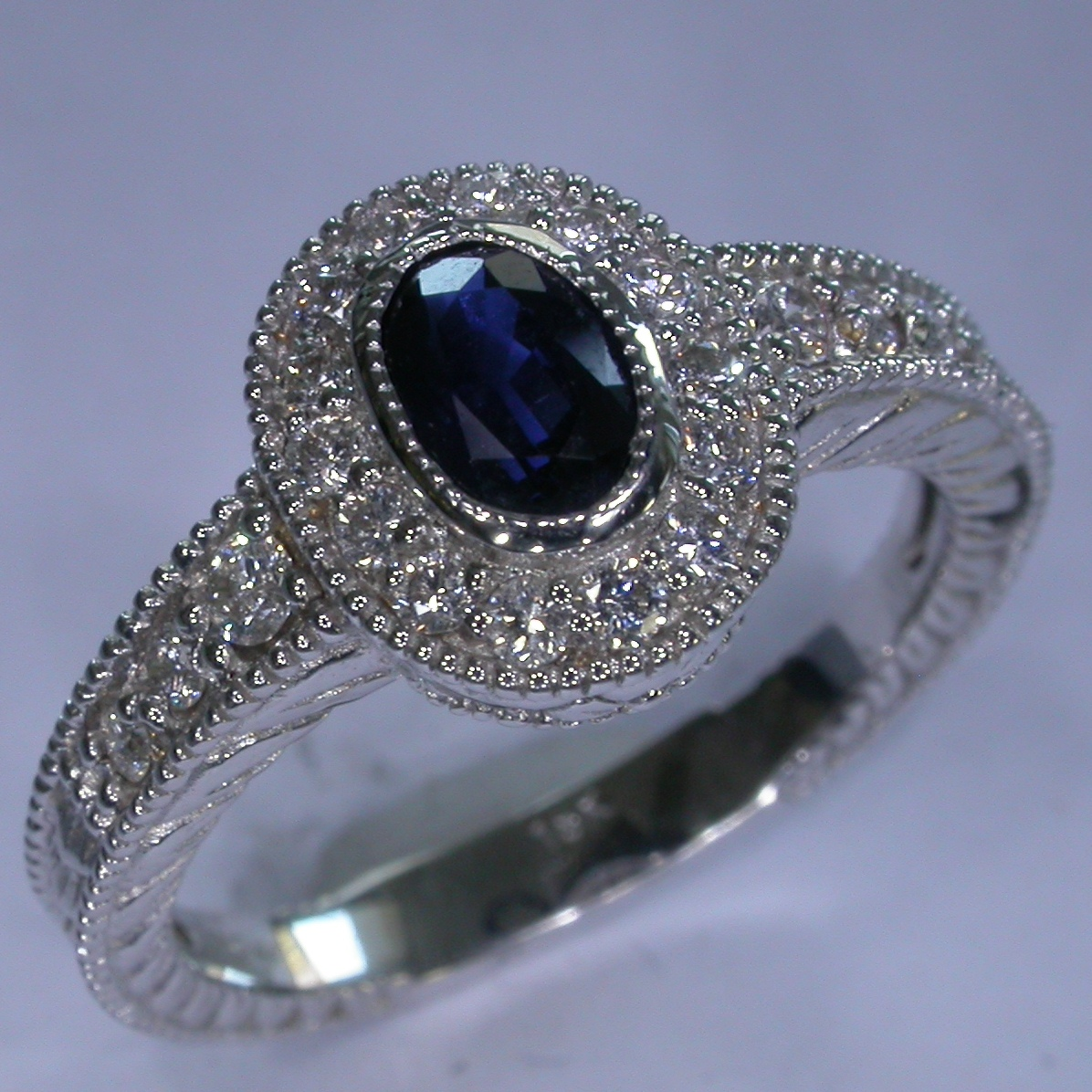 Colour Stone Engagement Rings - #6794