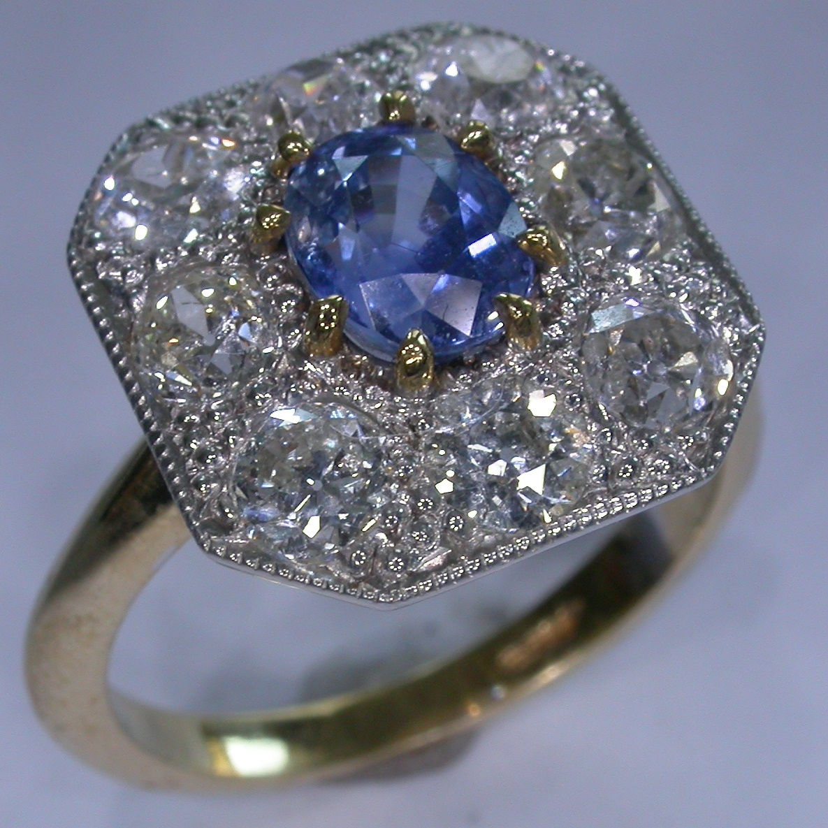 Colour Stone Engagement Rings - #6826