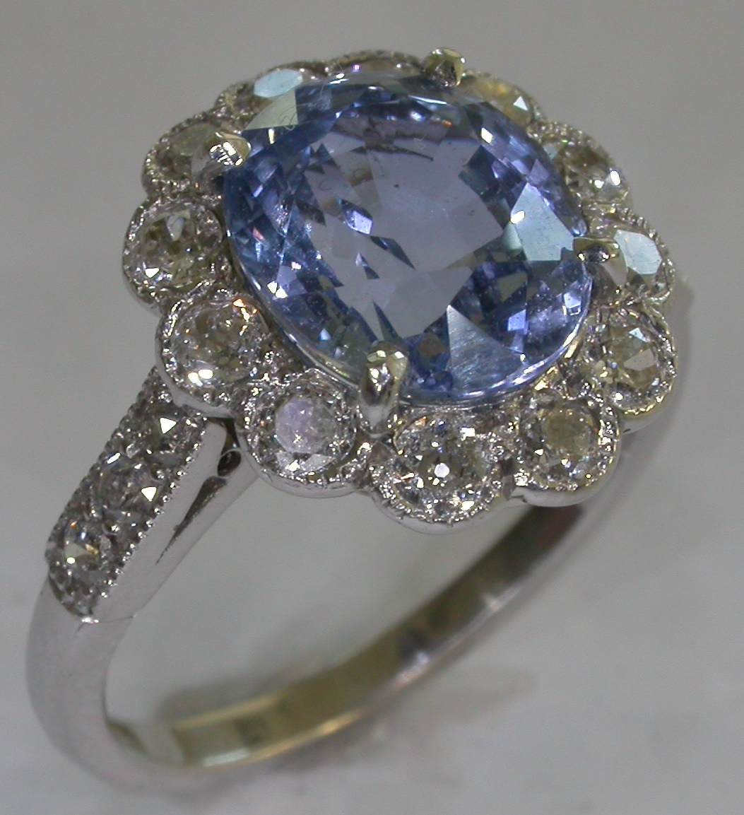 Colour Stone Engagement Rings - #7172