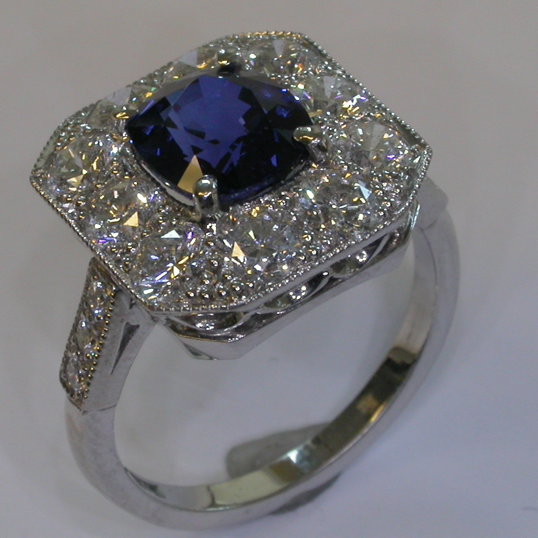 Melbourne Coloured Stone Engagement Rings - #7371