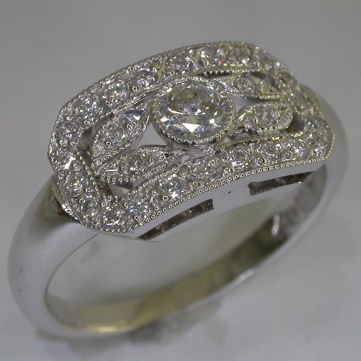 Art Deco Diamond Rings - #8086